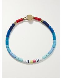 Roxanne Assoulin Colour Therapy Enamel And Gold-tone Bracelet - Blue