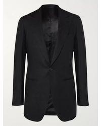 Saman Amel Black Linen Suit Jacket