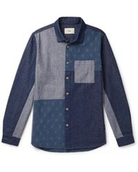 Folk - Panelled Cotton Shirt - Lyst