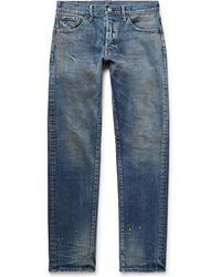 Fabric-Brand & Co. - Rake Distressed Stretch-denim Jeans - Lyst