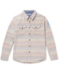 Outerknown Striped Organic Cotton-jacquard Overshirt - Multicolor