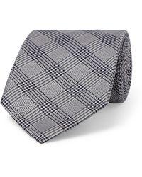 Etro 8cm Prince Of Wales Checked Silk-jacquard Tie - Blue