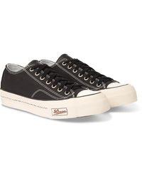 Visvim Skagway Leather-trimmed Canvas Sneakers - Black