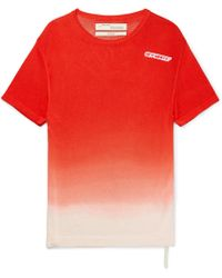 Off-White c/o Virgil Abloh - Printed Tie-dye Knitted T-shirt - Lyst