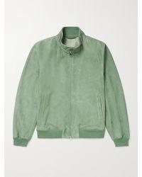 Valstar Suede Harrington Jacket - Green