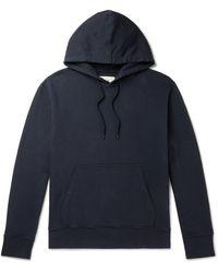 Folk Garment-dyed Loopback Cotton-jersey Hoodie - Blue