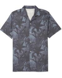 Officine Generale - Dario Camp-collar Printed Lyocell And Cotton-blend Shirt - Lyst