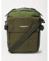 Indispensable Webbing-trimmed Ripstop, Canvas And Twill Messenger Bag - Green