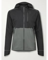 On Weather Colour-block Micro-ripstop Hooded Jacket - Black