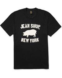 Jean Shop - Printed Slub Cotton-jersey T-shirt - Lyst