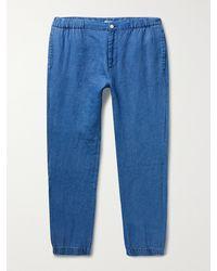 Onia Elijah Linen Trousers - Blue
