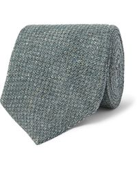James Purdey & Sons Silk-jacquard Tweed Tie - Blue