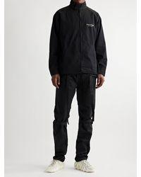 Fear Of God Logo-flocked Cotton Jacket - Black