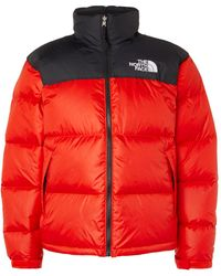 The North Face 1996 Nuptse Colour-block Quilted Nylon-ripstop Down Jacket - Red