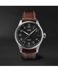 Oris Big Crown Propilot Big Date Automatic 41mm Stainless Steel And Leather Watch - Grey