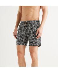 Thorsun Charvet Mid-length Printed Swim Shorts - Black