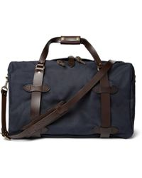 Filson - Leather-trimmed Twill Duffle Bag - Lyst