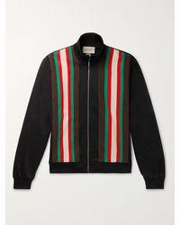 Gucci Striped Tech-jersey Track Jacket - Black