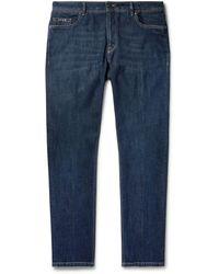 Tod's Slim-fit Stretch-denim Jeans - Blue
