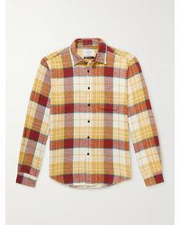 Portuguese Flannel Happy Checked Cotton-flannel Shirt - Yellow