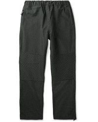 Stussy Checked Canvas Drawstring Pants - Black