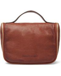 Brunello Cucinelli - Burnished Full-grain Leather Wash Bag - Lyst