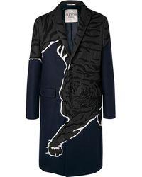 Valentino - Appliquéd Wool Coat - Lyst