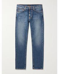 Nudie Jeans Lean Dean Slim-fit Organic Jeans - Blue