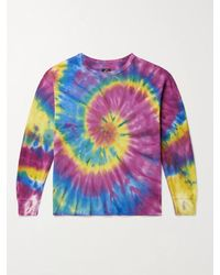 Needles - Tie-dyed Cotton-jersey T-shirt - Lyst