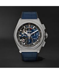 Zenith Defy El Primero 21 Chronograph 44mm Brushed-titanium - Blue