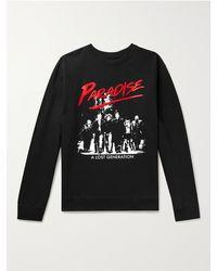 Paradise Lost Generation Printed Fleece-back Cotton-blend Jersey Sweatshirt - Black
