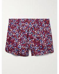Derek Rose Ledbury 45 Printed Cotton Boxer Shorts - Red