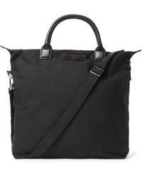 Want Les Essentiels De La Vie - O'hare Leather-trimmed Organic Cotton-canvas Tote Bag - Lyst