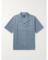 Howlin' Cocktail Camp-collar Checked Cotton-blend Seersucker Shirt - Blue