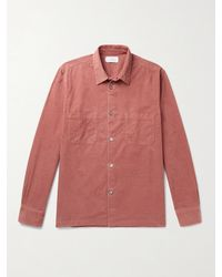 MR P. Stretch-cotton Needlecord Shirt - Pink