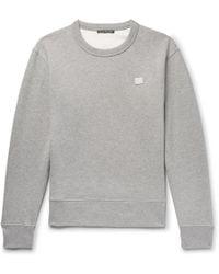 Acne Studios - Fairview Face Logo-patch Cotton-jersey Sweatshirt - Lyst