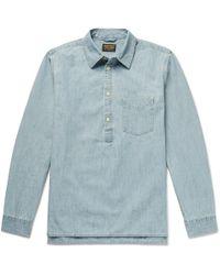 Jean Shop - Ethan Cotton-chambray Half-placket Shirt - Lyst