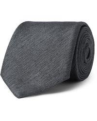 Charvet 7.5cm Silk Tie - Grey