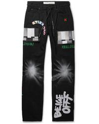 Off-White c/o Virgil Abloh Ev Bravado Relaxed Jeans - Black