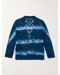 Blue Blue Japan Indigo-dyed Cotton-mesh Jacket - Blue
