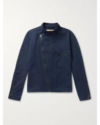 CONNOLLY Goodwood Cotton-twill Jacket - Blue