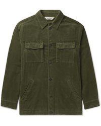 Aspesi Cotton-corduroy Overshirt - Green