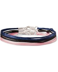 Rubinacci - Set Of Three Silk Ribbon Bracelets - Lyst