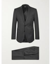 BOSS by HUGO BOSS H-huge 214 Slim-fit Virgin Wool Suit - Black