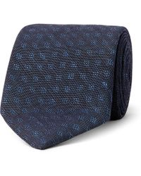 Oliver Spencer - 8cm Deacon Cotton And Linen-blend Jacquard Tie - Lyst