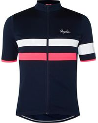 Rapha Brevet Panelled Cycling Zip-up Jersey - Blue