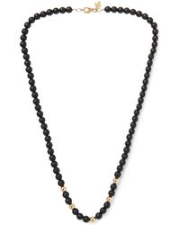 Peyote Bird - Onyx And 14-karat Gold-plated Necklace - Lyst