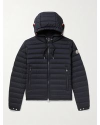 Moncler Eus Slim-fit Quilted Nylon Down Hooded Jacket - Blue