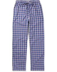 Derek Rose | Barker Checked Cotton Pyjama Trousers | Lyst