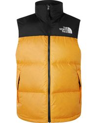 The North Face 1996 Retro Nuptse Colour-block Quilted Shell Down Gilet - Yellow